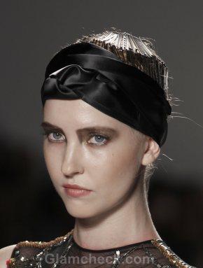 Hair Accessories Trend S-S 2012 head scarf Falguni Shane Peacock