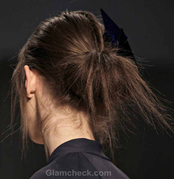Hairstyle How To Messy Looped Under Ponytail