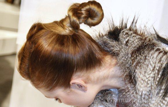 Hairstyle How To Twisted buns yoana-baraschi-nyfw-fw-2011