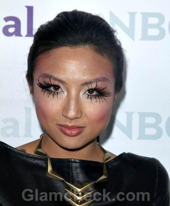 Jeannie Mai Rocks Dramatic Eyelashes at All-Star Party