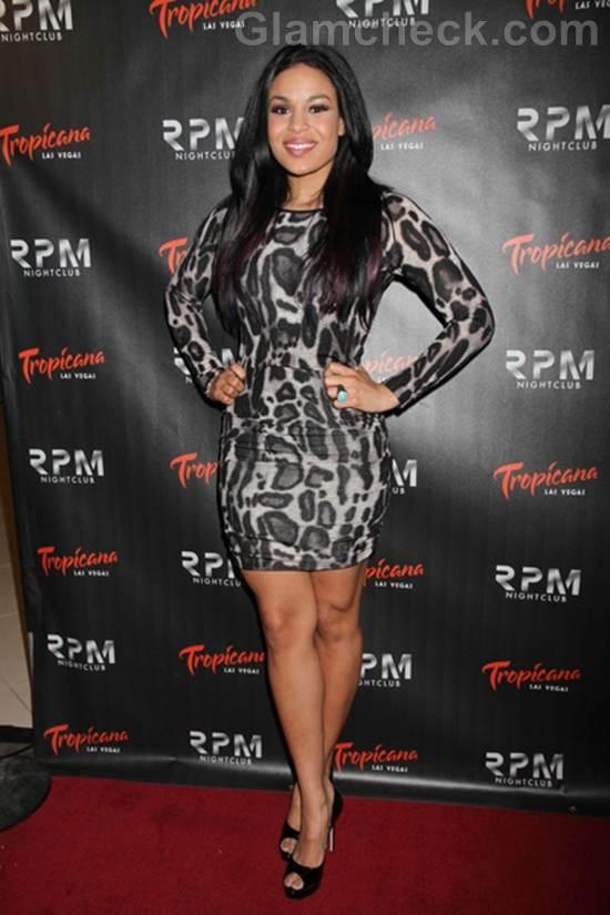 Jordin Sparks Animal Print Mini Dress for 22nd Bday