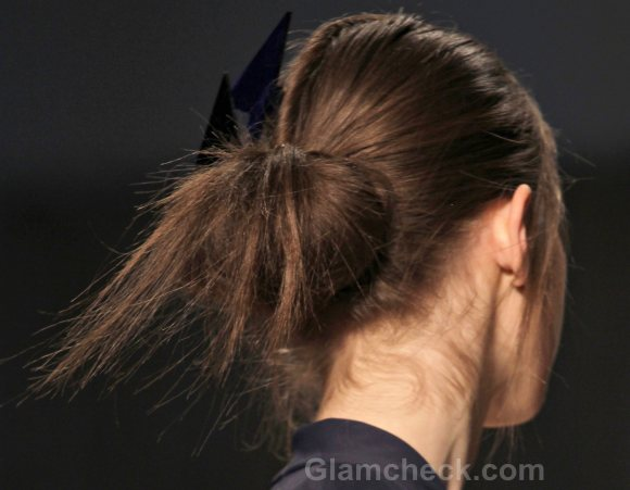 Messy Looped Under Ponytail hairstyle how to