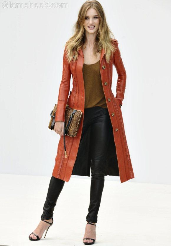 Rosie Huntington-Whitely Leather jacket pants
