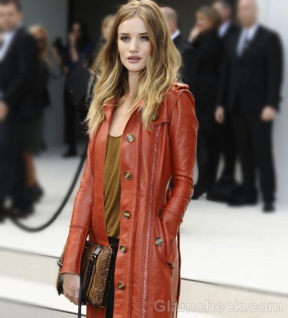 Rosie Huntington-Whitely in Leather