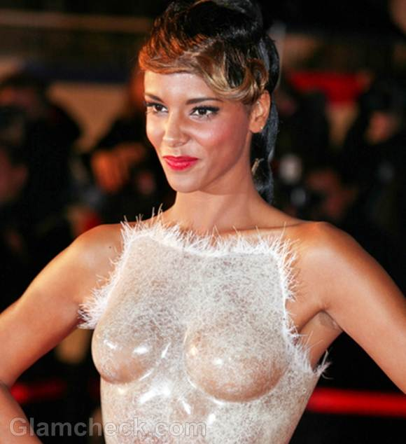 Shym Dons Transparent Corset at NRJ Music Awards 2012