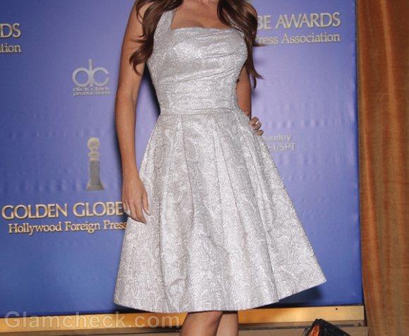Sofia Vergara Ethereal In Off-white Retro dress