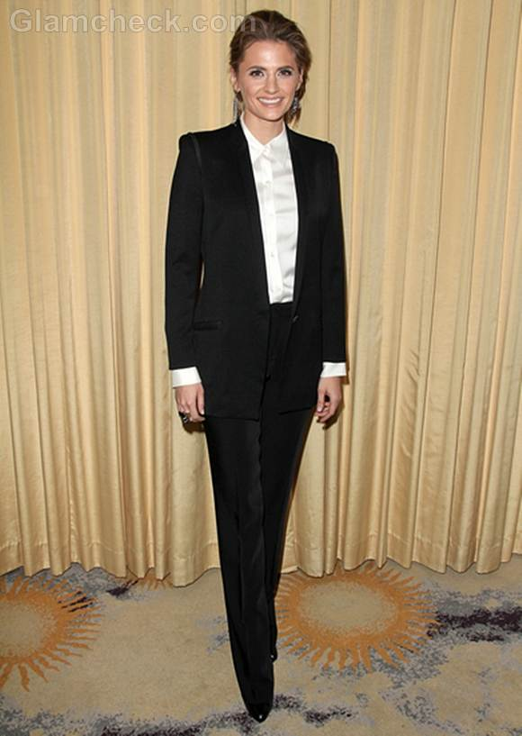 Stana Katic Sports Androgynous Look