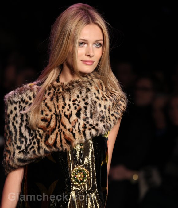 Style Pick of the Day Anna Sui Leopard Print Fur Capelets