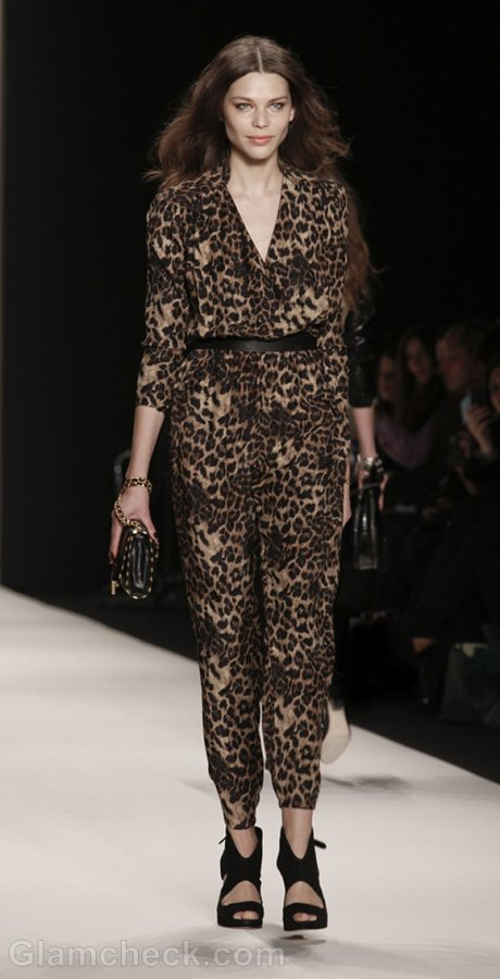 Style Pick of the Day Leopard Print Jumpsuit Rebecca Minkoff