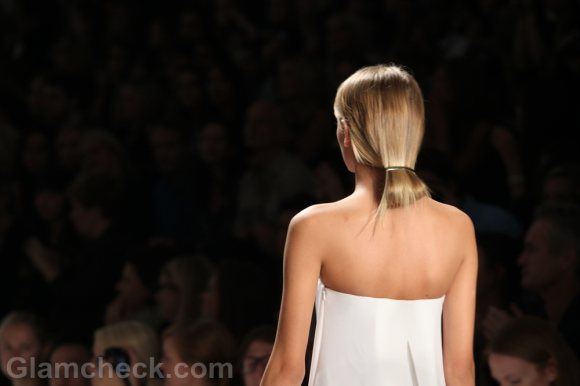 hairstyle looped in ponytail