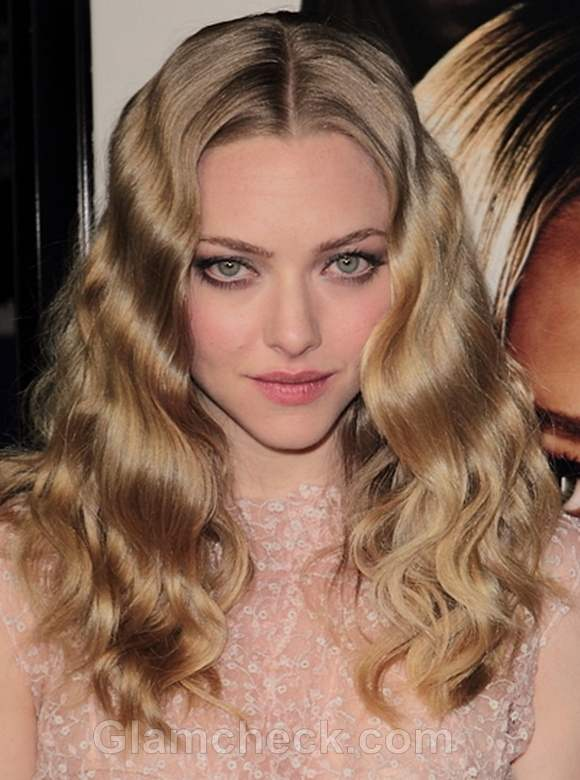 Amanda seyfried hairstyle center parted retro waves