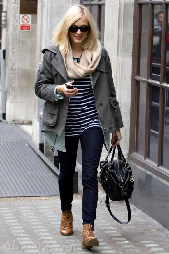 Celeb Street Style Fearne Cotton In Cool Casual Ensemble