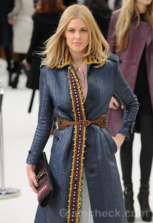 Donna Air London Fashion Week Blue Coat