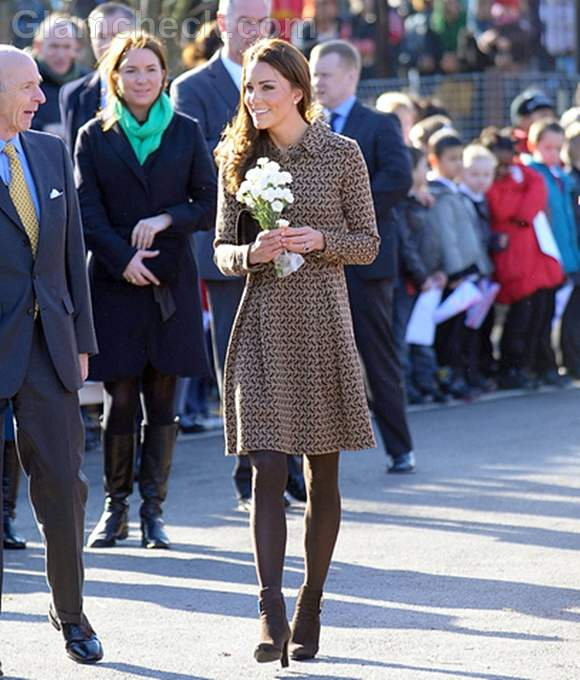 Duchess of Cambridge coat dress at school visit