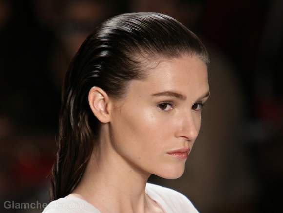 Hairstyle how to slicked back hair carlos miele s-s-2012