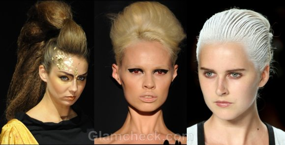 Hairstyle trends s-s 2012 buns futuristic updos