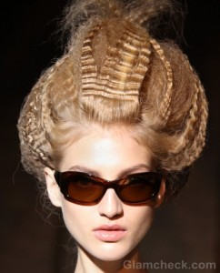 Hairstyle trends s-s 2012 futuristic updos Permed voluminous hair