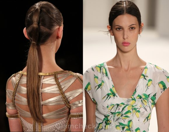 Hairstyles For Straightened Hair : Hairstyle trends s 2012 : curly straight & messy hair