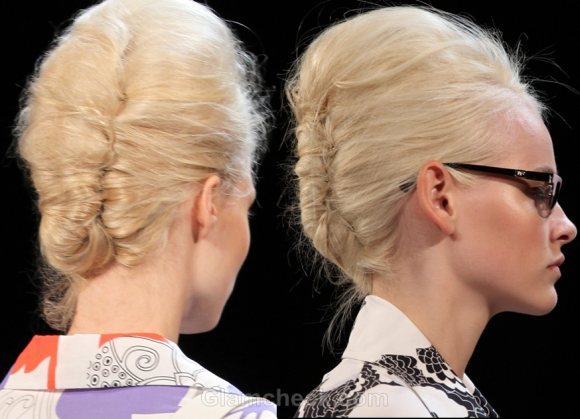 Hairstyle Trends Ss 2012 Buns Futuristic Updos