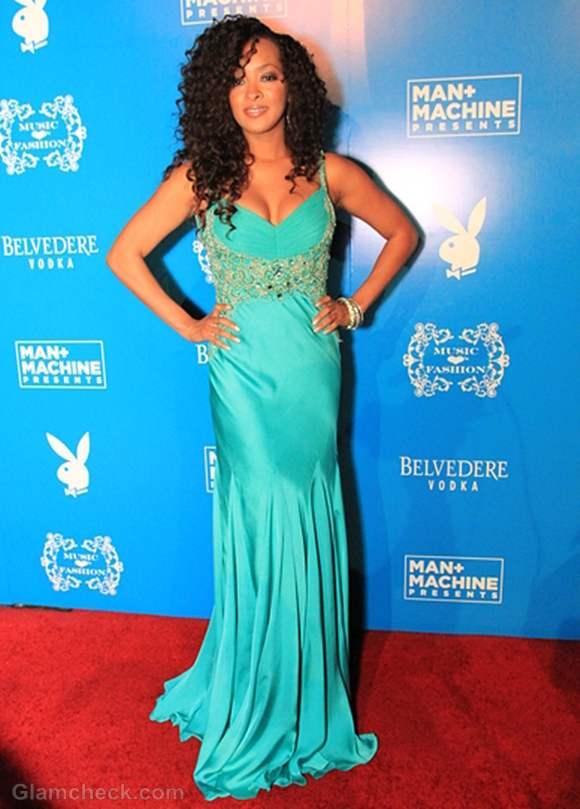 Jennia Frederique Resplendent in Aquamarine Gown