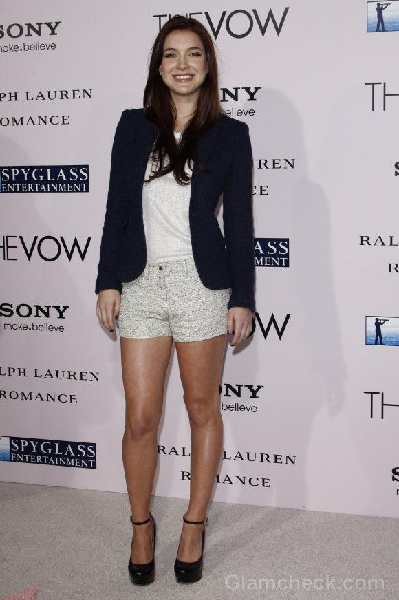 Nathalia Ramos wears shorts with blazer