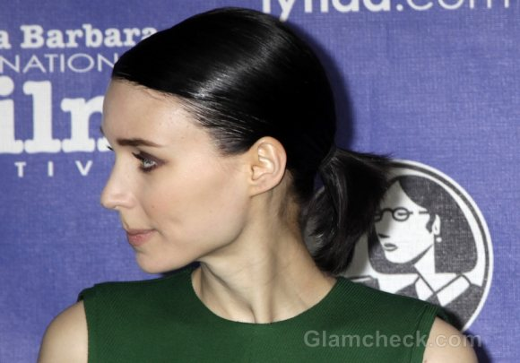 Rooney Mara Wears Slicked Back Low Ponytail to Film Festival