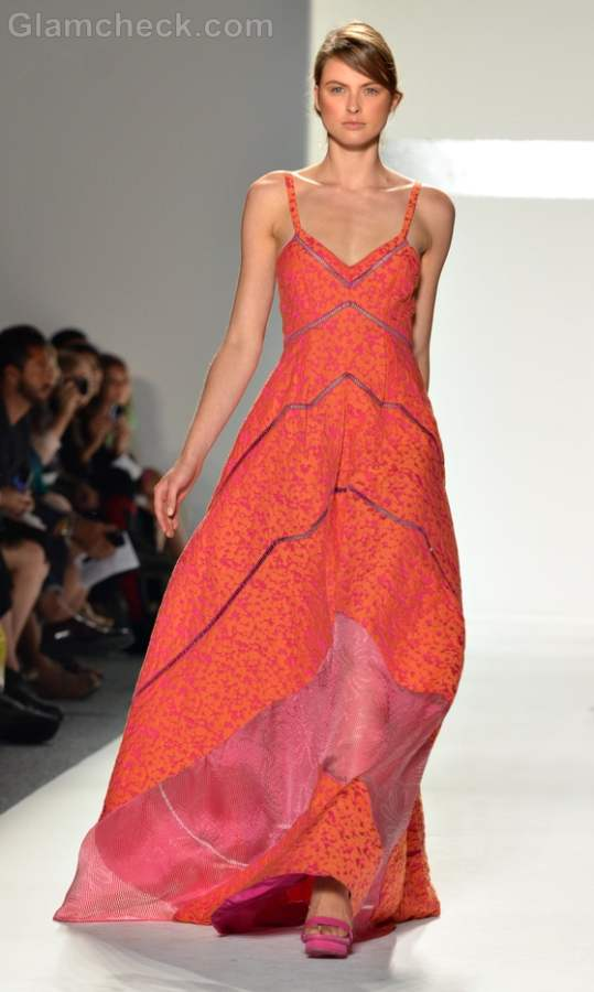 Tangerine orange Maxi Dress Timo Weiland Spring 2012 Style pick of the day