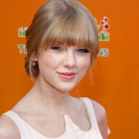 Taylor Swift hairstyle Classy Chignon Bangs