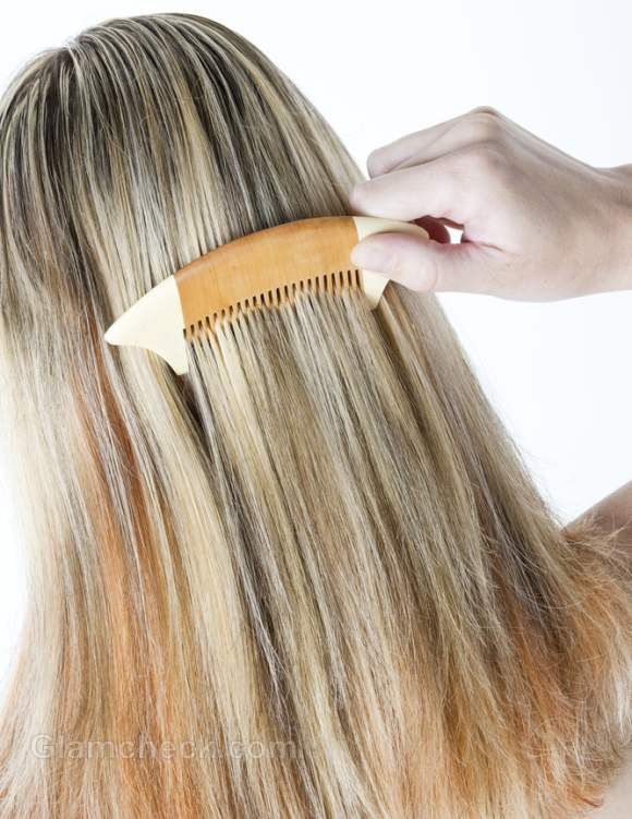 daily hair care routine brush hair