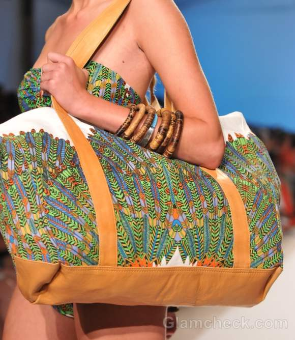 printed beach handbag mara hoffman swimsuit collection s-s 2012