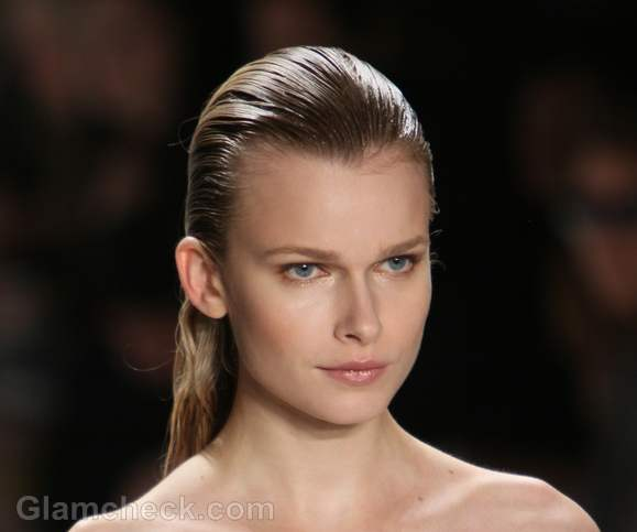 slicked back hairstyle how to carlos miele s-s-2012
