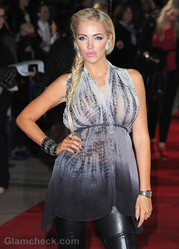 Aisleyne Horgan Wallace Bewitching In Glam Makeup Amp Side