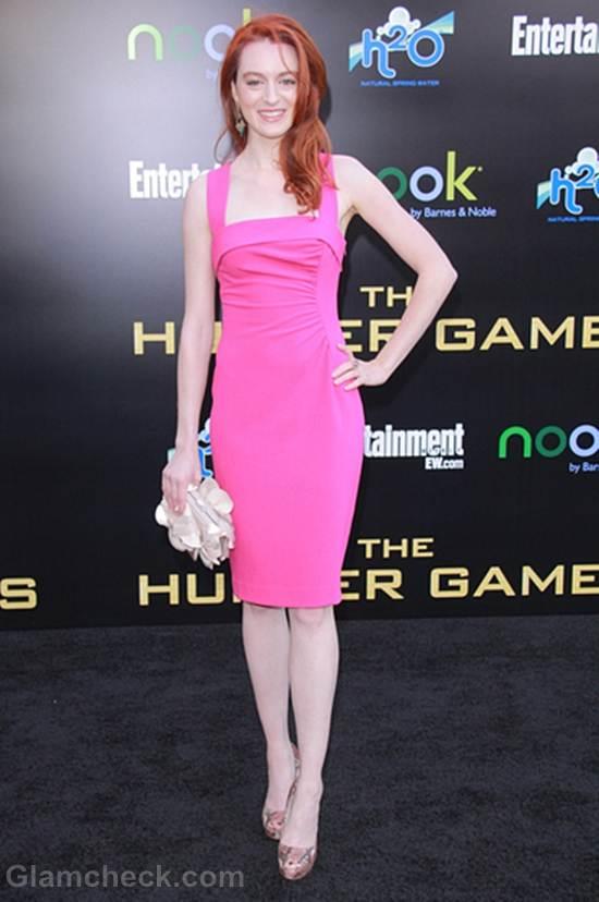 Amber Chaney pink dress