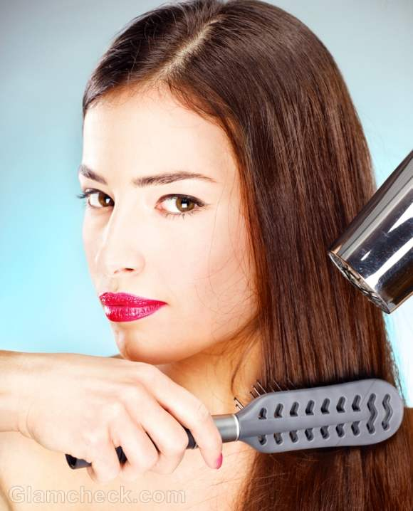 Blow drying hair tips precautions -2