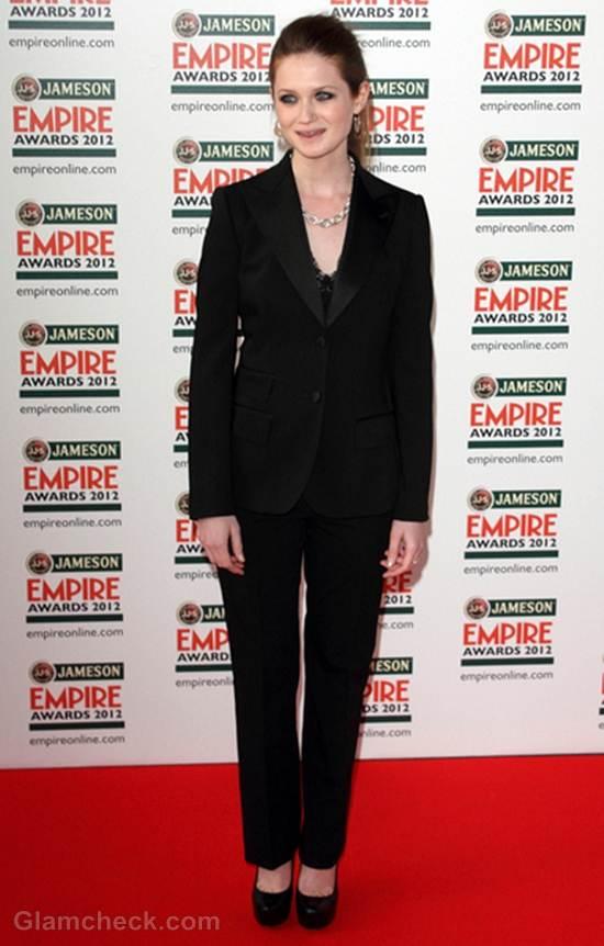 Bonnie WrightinTuxedo at Empire Film Awards 2012