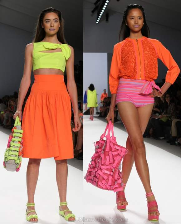 How to wear neon dress