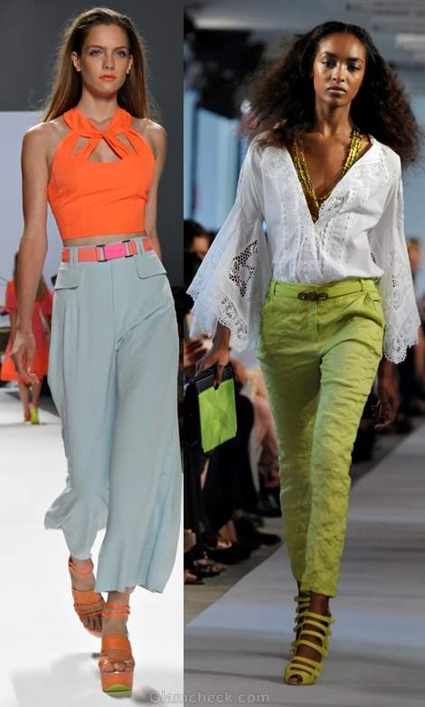 How to wear neon pants