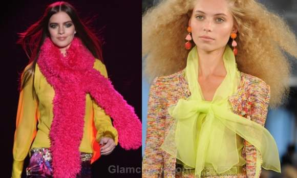 How to wear neon scarfs