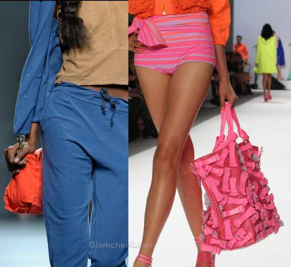 How to wear neons handbags