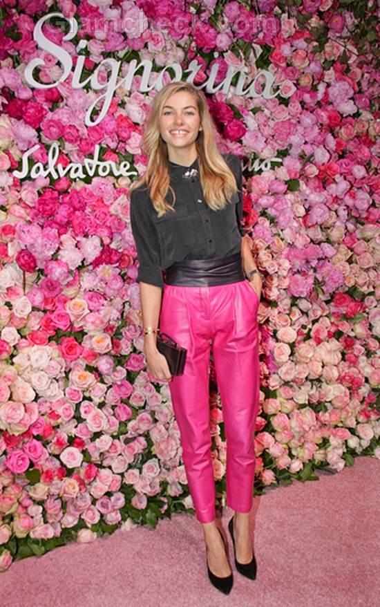 Jessica Hart Salvatore Ferragamo Signorina Perfume Launch Party