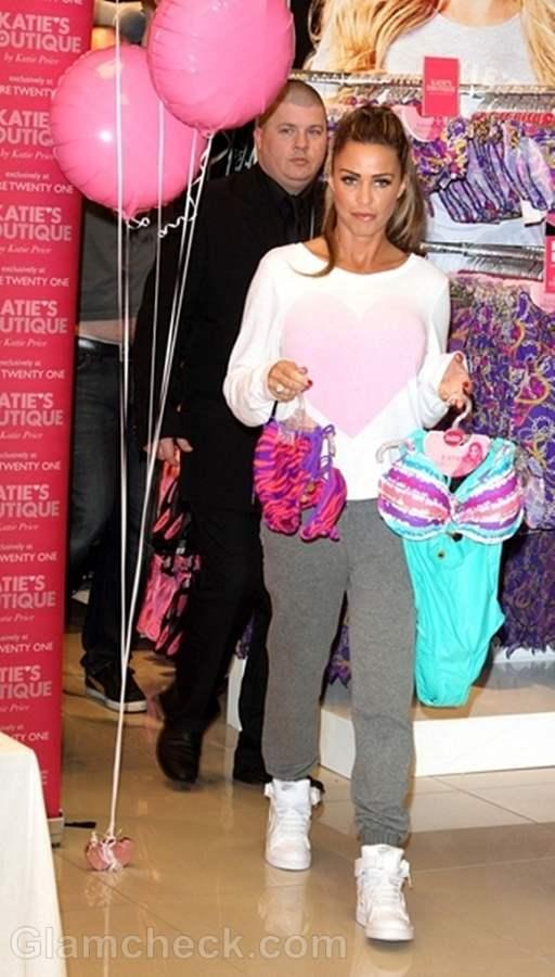 Katie Price Promotes New Swimwear Range