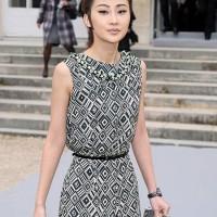 Li Xiao Lu Cute at Paris Fashion Week
