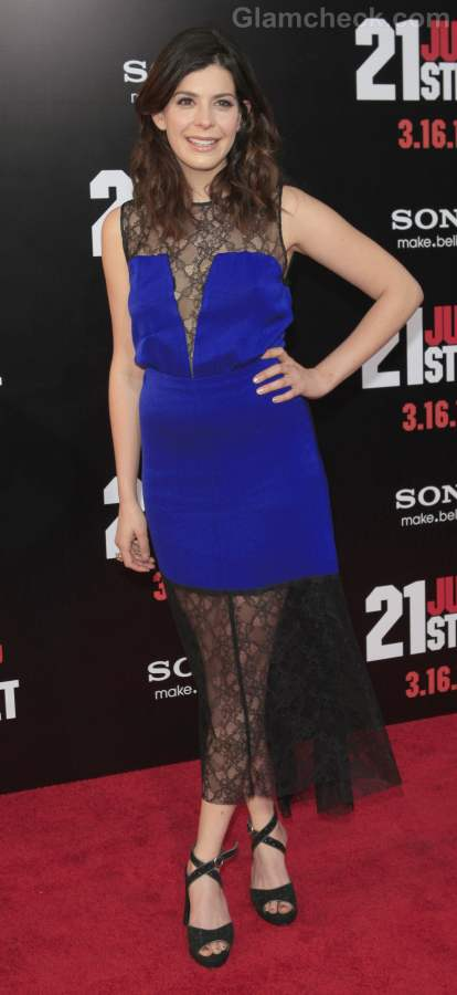 Lindsay Broad blue black dress