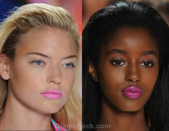 Makeup trends s-s 2012 neon lips