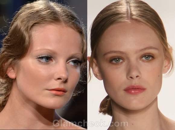 Makeup trends s-s 2012 peach lips natural tones