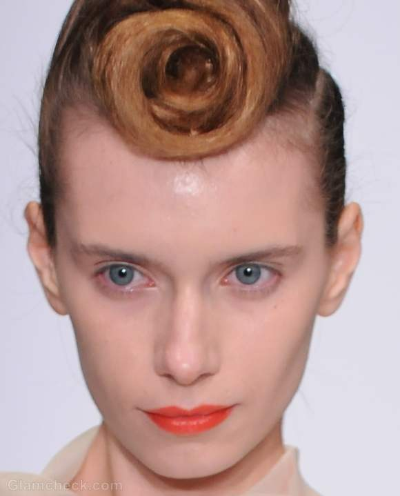 Makeup trends s-s 2012 tangerine lips