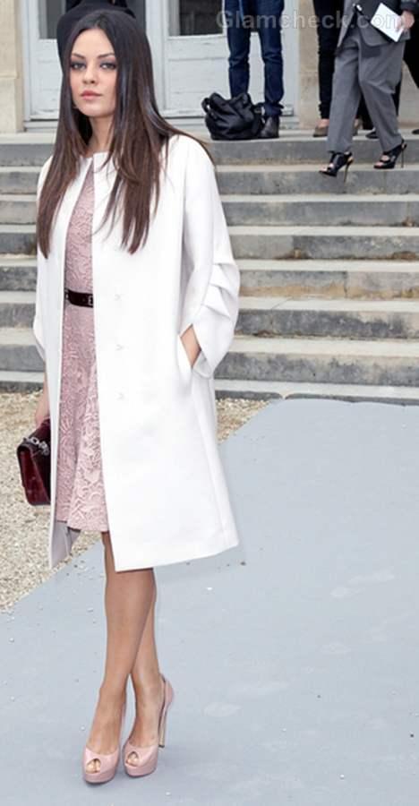 Mila Kunis at paris fashion week