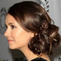 Nina Dobrev Side-swept Chignon PaleyFest 2012