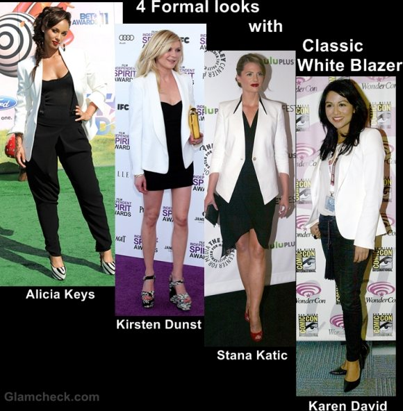 Style Inspiration 4 formal looks with classic white blazer