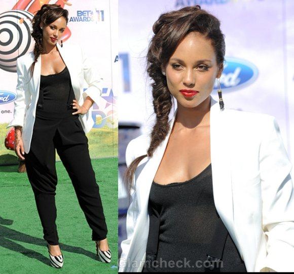 Style Inspiration white blazer Alicia Keys